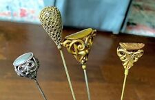 Vintage, Antique, Victorian Lot of 4 old Hat Pins Great lot Reduced