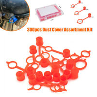 300PCS/Set Dust Cover Cap For Grease Zerk Nipple Fitting Red Plastic Protection