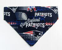 Patriots football Dog Bandana Over the Collar dog bandana Dog collar bandana