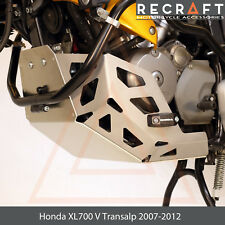 Honda XL700 V Transalp 2007-2012 Engine Guard Skid Plate with Sliders + GIFT