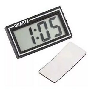 ALL RIDE JUMBO SELF ADHESIVE QUARTZ CLOCK WITH DATE FUNCTION DASHBOARD DIGITAL