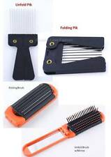 1 Piece Metal Pik Comb or Travel Brush w/Mirror Foldable Style Travel Detangle