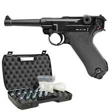 GSG Modell 08 Vollmetall Softair-Co2-Pistole 6 mm BB Blowback >0,5 Joule (P18)