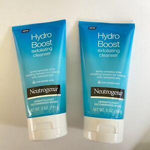 Neutrogena Hydro Boost Exfoliating Cleanser Hyaluronic Acid 5 Oz - 2 Pack New