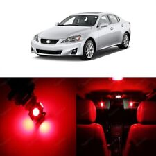 16 x Red LED Interior Lights Package For 2006 - 2013 Lexus IS250 IS350 + TOOL