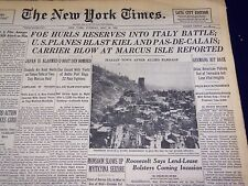 1944 MAY 23 NEW YORK TIMES - FOE HURLS RESERVES INTO ITALY BATTLE - NT 814
