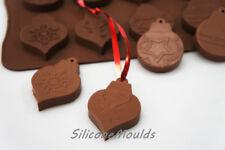 8 celdas colgante Navidad adorno Chocolate Molde de Silicona para Decoración de Pasteles Dulces