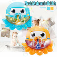 Bath Water Toys Baby Kids Sucker Octopus Carton MUSIC Automatic Bubble Play