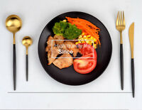 4Pcs Knife+Fork+2Spoon Dinnerware Cutlery Kitchen Decor Set Stainless Steel