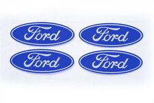 4-FORD CENTER CAP LOGOS BLUE OVAL DECALS VINYL F150 F250 MUSTANG FOCUS FUSION
