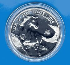 UK Lunar Horse 2014 1 Oz 2 Pfund Gro0britannien OZ Silber  * TOP *