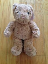 "Retired 2009 Build A Bear Plush 15"" Classic Golden Brown Bunny Rabbit Brown Eyes"