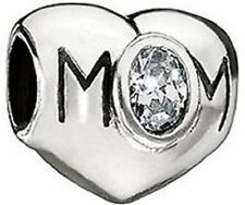 CHAMILIA STERLING SILVER MOM CLEAR WHITE CZ BEAD JA-21A MOTHER DAUGHTER CHARM