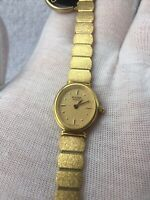 Vintage NEW/OLD Stock Bulova 92J18-9Y MSRP195, Gold Electroplated, See Details!