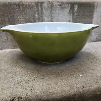 "Pyrex Avocado Green Cinderella Nesting Bowl #443 2.5 Qt 8.75"" Diameter"