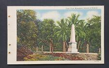 Vintage Hawaii postcar Captain Cook Monument mint condition