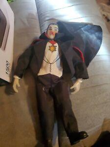 "Vintage 1980 Remco Dracula Figure 9"" with Cape Glow in Dark Vampire Universal"