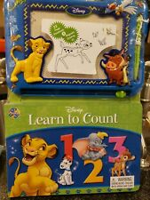 Disney Learn To Count Book And Magnetic Board With Pen