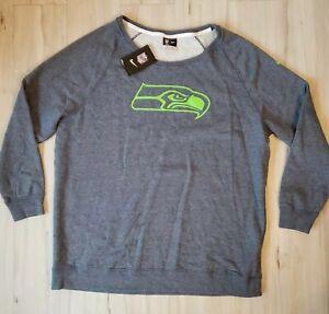 NWT Women's XL Nike NFL Seahawks Pullover Long Sleeve Sweater Gray Green