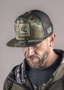 NEW HOYT ARCHERY HAT, CAMO FLATTY CAP #1952693