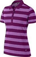 Nike Women's Dri-Fit Bold Stripe Golf Polo Shirt Purple UK size M *REF65