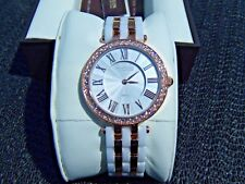 NEW Anne Klein Women's Rose Gold Crystal White Ceramic Watch 12/2262RGWT NIB