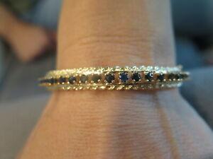 14k Gold and Blue Sapphire Bracelet 14.36 grams (#419)