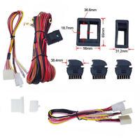 1 SET Auto Car Power Window Switch With 12V Wiring Harness Kit Universal