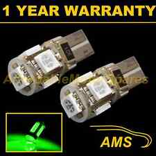 2X W5W T10 501 CANBUS ERROR FREE GREEN 5 LED SIDELIGHT SIDE LIGHT BULBS SL101303