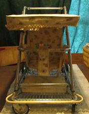 RARE vintage retro baby/child stroller/walker metal Hartford textile corp. 1959
