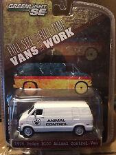 Greenlight VANS doing WORK 1976 Dodge B-100 ANIMAL CONTROL  Van  ON SALE!