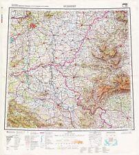 Russian Soviet Military Topographic Maps - BUDAPEST (Hungary) 1:1Mio., ed.1970