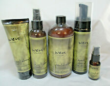 New WEN Cleansing Conditioner 16oz Sweet Almond Mint Mousse Mist Styling Gloss *
