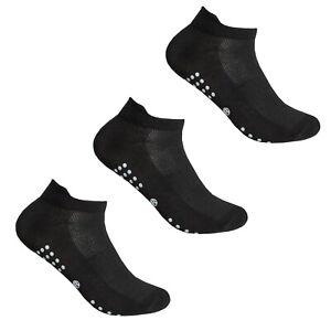 3 Ladies Womens MENS  Sports Gym Yoga Non Slip Gripper Sole Trainer Liner Socks