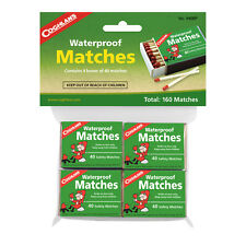 COGHLANS WATERPROOF MATCHES - 160 MATCHES - IDEAL FOR THE OUTDOORS (COG 940BP)