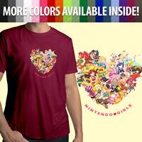 Nintendo Girls Zelda Princess Peach Samus Rosalina Unisex Mens Tee Crew T-Shirt