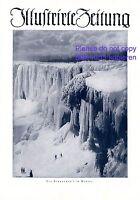 Niagarafall im Winter XL S. 1925 Titelseite Fotoabb. Zeichnung Niagara falls USA