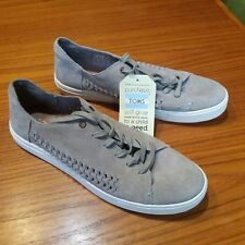 New Toms Women's size 12 Desert Taupe Deconstructed Suede Lenox Sneaker 10010008
