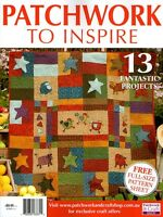PATCHWORK TO INSPIRE  MAGAZINE.  2015. PATTERN SHEET ATTACHED