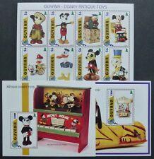 Guyana 1996 Disney Hist. Spielzeug Antique Toys 5646-53 Block 516-517 MNH