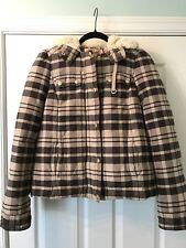 Juicy Couture Plaid Warm Jacket Coat With Hood Size 0 or XS