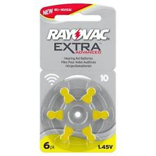 Rayovac Extra Mercury Free Hearing Aid Batteries Size 10. Box of 60 Cells