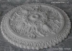 "Plaster Ceiling Rose Grand Victorian Design 610 mm / 24"" UK Hand Made"
