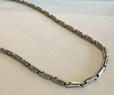 DAVID YURMAN Men's Silver 3mm Cable Chain Link Necklace $1700  Nwt 26""