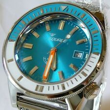 Orologio Squale MATIC 600 MT, blue dial soleil, shiny indexes, bracciale mesh