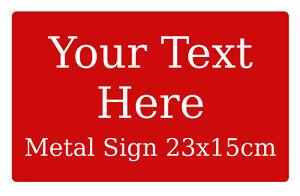 Custom Personalised Text Colour Metal Aluminium Sign Door House Office Plaque