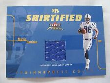 2003 Fleer Focus FB NFL SHIRTIFIED #NS-MH Marvin Harrison Colts JERSEY RELIC !!!