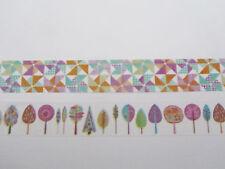 Carino Kawaii Kitsch Washi Appiccicoso Nastro Adesivo Deco alberi e Mulini a Vento Set Di 2