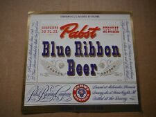 New listing Pabst Blue Ribbon Irtp 4 3/4% 32 Oz. Beer Label~Pabst,Milwaukee,Wis #7