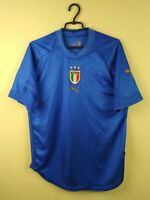 Italy team jersey shirt 2004/2006 Home official puma soccer football size L